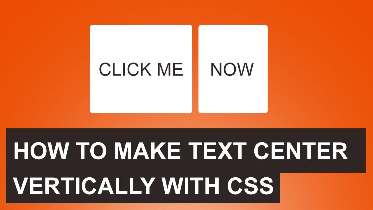 Background image vertical center - Css Center Text Vertically Quick Tutorial