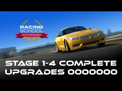Real Racing 3 Amateur - Racing School Advanced Stage 1-4 Complete No Upgrades RR3