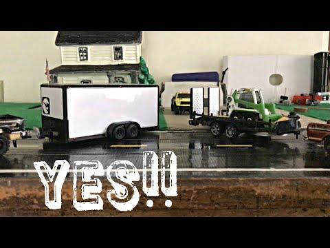 2 Maisto Toy Car Trailers, Repurposed