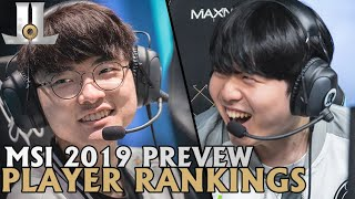 MSI 2019 Preview: Positional Player Rankings | Lol esports