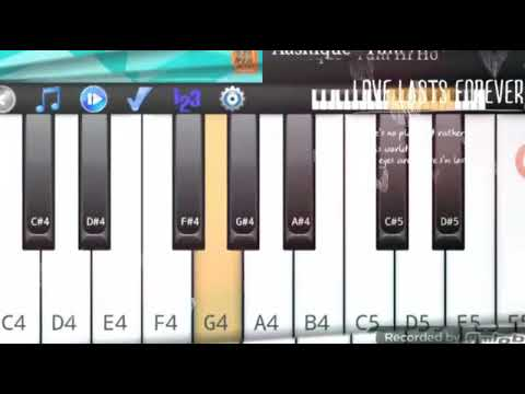 Main Tujhse hi Chup Chup kar। Mobile piano।   Hasting Noman