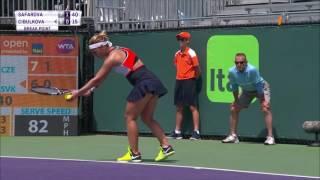 Lucie Šafářová - Dominika Cibulková, WTA Miami 2017 (sestřih O2 TV Tenis)