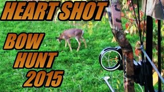 HEART SHOT!  Bow Hunting Deer Kill - 2015