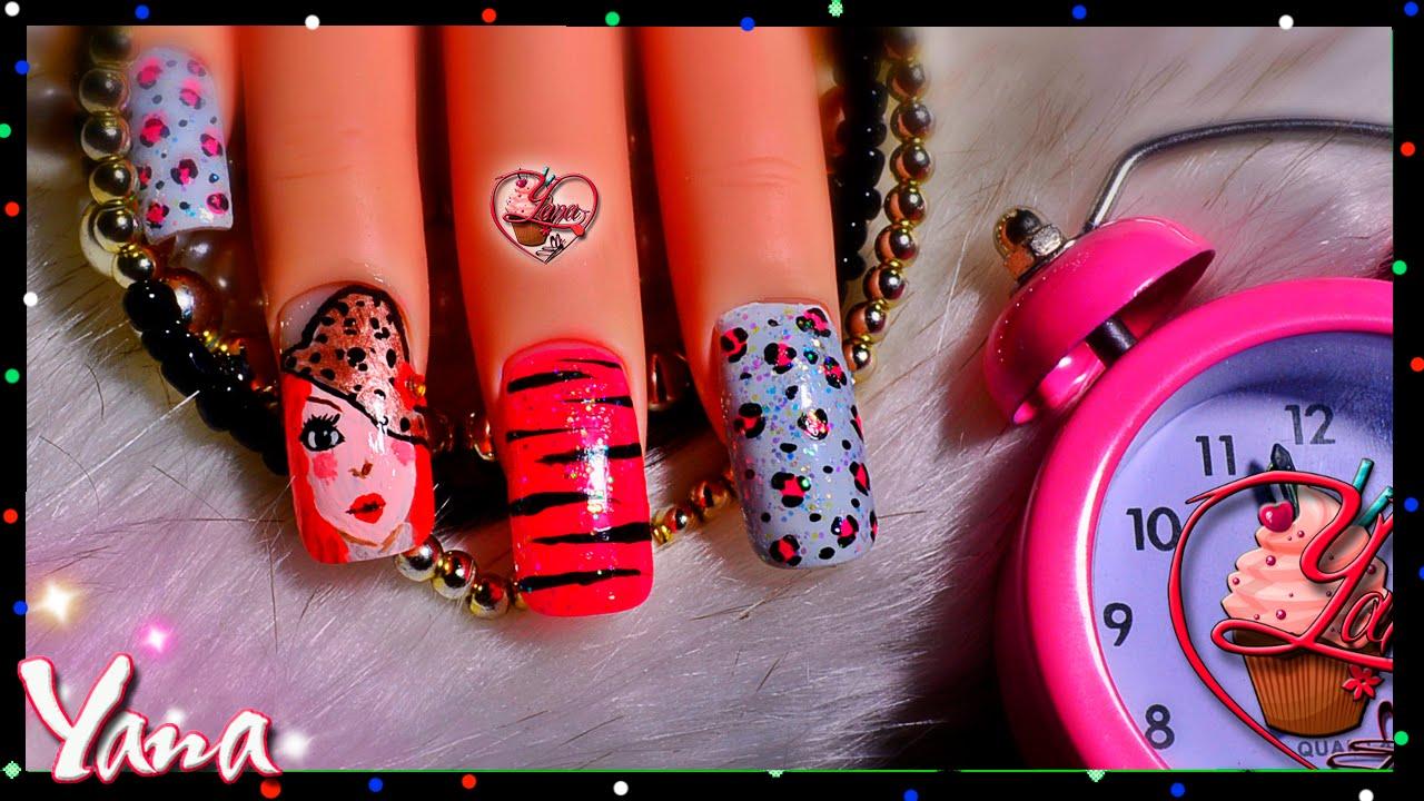 Decorado de u as juvenil yana nail art youtube - Decorados de unas ...
