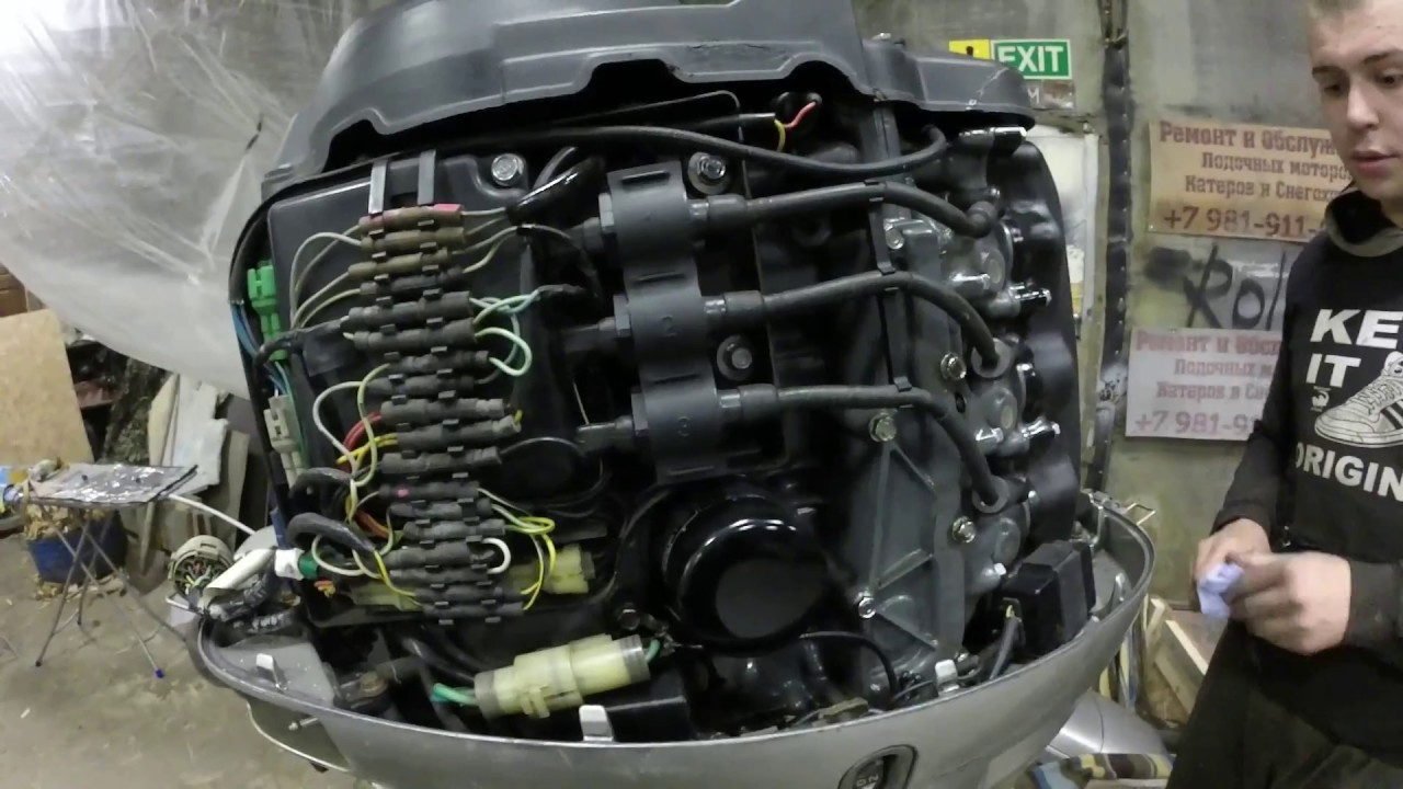 Лодочный мотор Honda 50 из Салехарда приехал на ремонт
