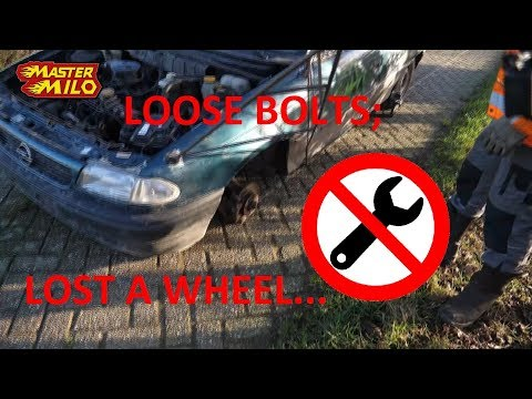 Driving with loose wheelbolts -Don't try yourself-