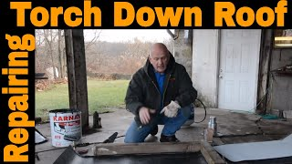 Flat Roof Repair - How to make a repair on a Torch Down Rubber Roof