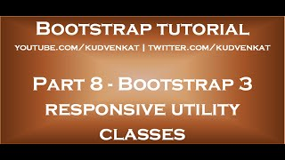Bootstrap 3 responsive utility classes