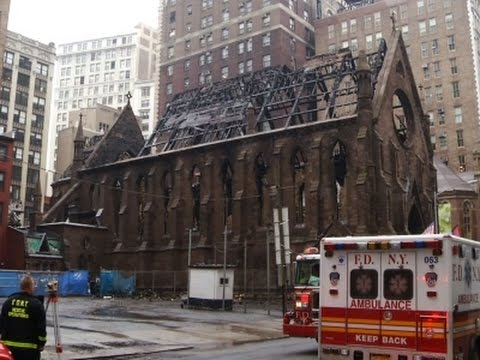 Raging Fire Destroys Historic New York City Church