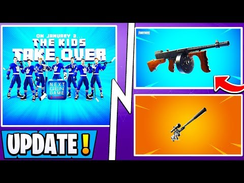 *NEW* Fortnite Update! | Free Gifts, NHL Skins, Drumgun, Suppressed Sniper! thumbnail
