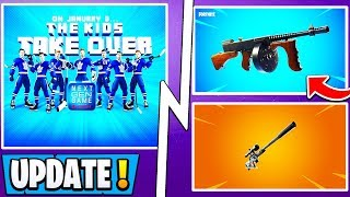 *NEW* Fortnite Update! | Free Gifts, NHL Skins, Drumgun, Suppressed Sniper!