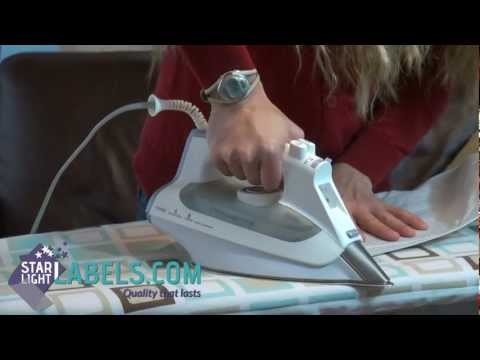 How to Iron On Labels for Clothing