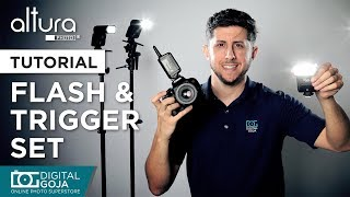 nEW Flash and Trigger Set AP-305 by Altura Photo (Canon  Nikon  Sony)  FIRST LOOK