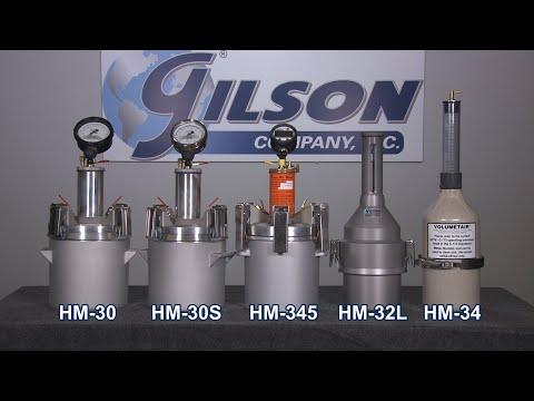 Gilson Concrete Air Meters (HM-30, HM-30S, HM-345, HM-32L, HM-33)