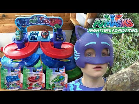 PJ Masks Nighttime Adventures NEW Spiral Die-Cast Toys (Disney Junior)
