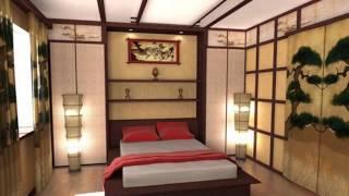 Спальня в японском стиле    идеальное место для отдыха и релаксации