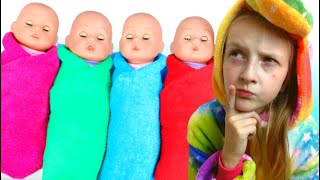Rock a bye baby  kids song by TaWaKi kids\Pretend play with doll