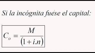 Formulas derivadas interes simple