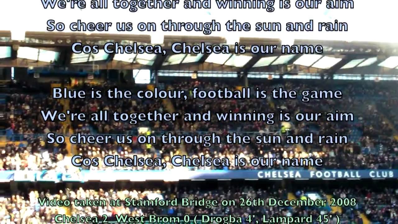 Stamford Bridge sings Chelsea FC's Anthem