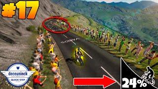 Tour De France 2020 PS4 | Stage 17 - COL DE LA LOZE!!! (Quick-Step Gameplay)