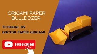 Origami Paper Bulldozer Tutorial (Makoto Yamaguchi)