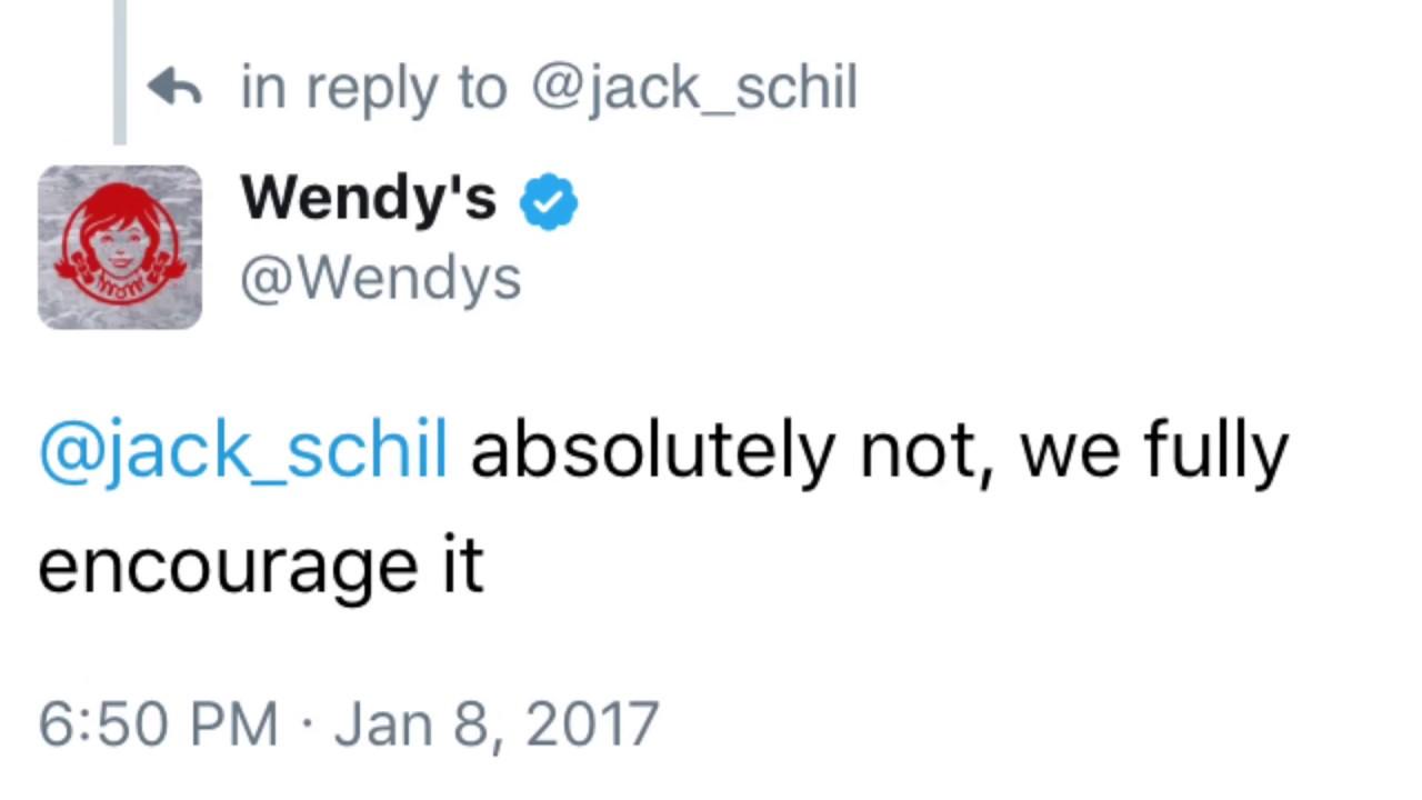 Best Wendys Tweets YouTube - 24 hilarious comebacks wendys twitter account