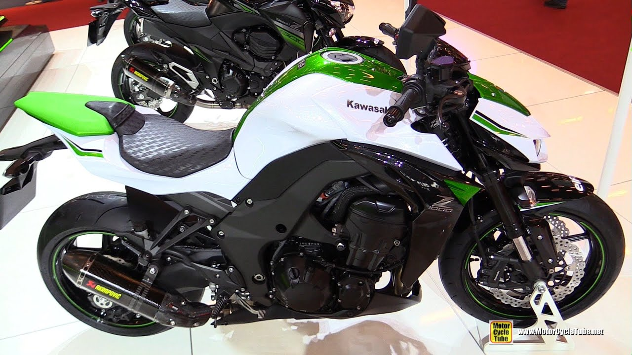 2016 kawasaki z1000 abs walkaround 2015 salon de la moto paris youtube. Black Bedroom Furniture Sets. Home Design Ideas