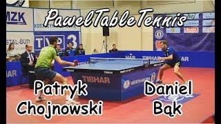 Patryk Chojnowski vs Daniel Bąk - Tenis stołowy
