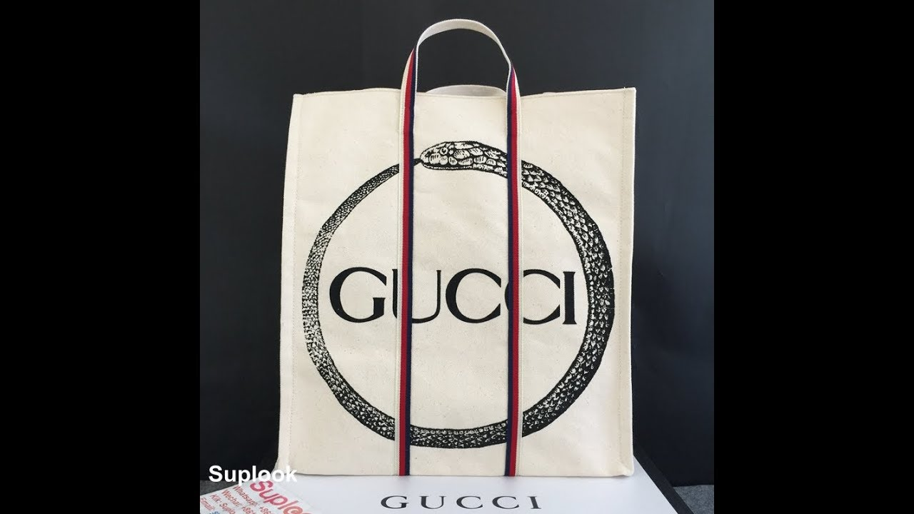 d3e00267 GUCCI ouroboros print tote Detailed Review - YouTube