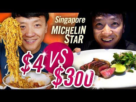 Singapore MICHELIN STAR Food Tour $4 NOODLES vs. $300 BBQ   BEST Spicy Mapo Tofu!