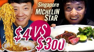 Singapore MICHELIN STAR Food Tour $4 NOODLES vs. $300 BBQ | BEST Spicy Mapo Tofu!