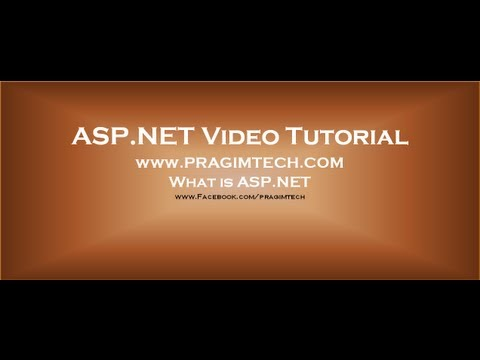What Is ASP.NET Part 1