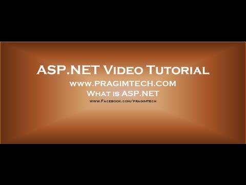 ASP.NET tutorial for beginners - YouTube
