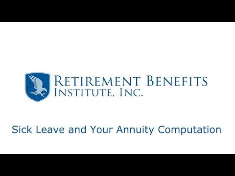 Sick Leave and Your Annuity Computation