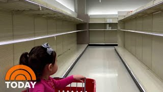Panic Buying Leaves Empty Shelves At Supermarkets And Stores | TODAY