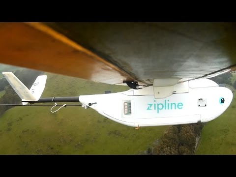 Zipline drones airdrop medical supplies to African villages