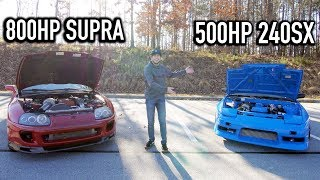 Toyota Supra vs. 2JZ Nissan 240sx - Which is the Better Car?