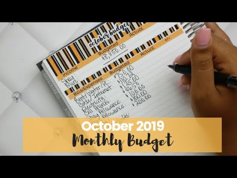 Budget With Me | October 2019 Monthly Budget