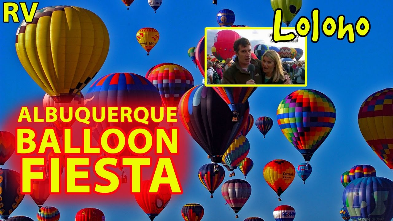 RV Camping At The Albuquerque New Mexico Balloon Fiesta