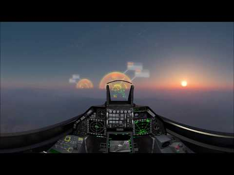 Raytheon - F-16 Fighters Suppression Of Enemy Air Defenses Combat Simulation [1440s]