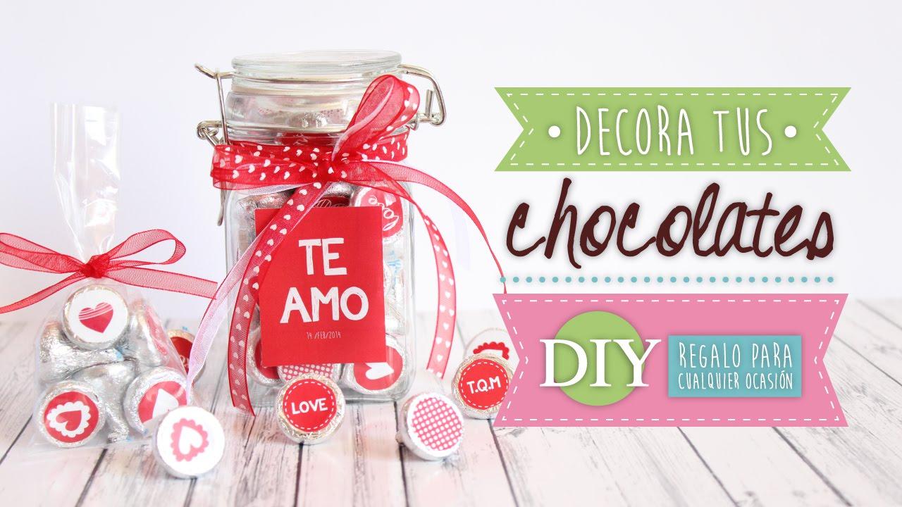 Diy decora chocolates chocomensajes regalos para san - San valentin regalos ...