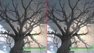 Fallout 4: God rays comparison - ultra vs high vs medium vs low vs off