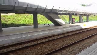 ERL KLIA エクスプレス サラク ティンギ駅 電車通過 Salak Tinggi Station