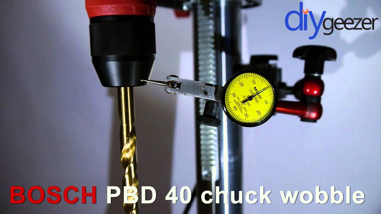bosch pbd 40 drill press chuck wobble youtube. Black Bedroom Furniture Sets. Home Design Ideas