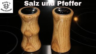 Salz und Pfeffer Streuer drechseln - diy