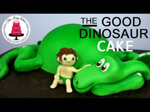 How To Make A GOOD DINOSAUR CAKE The Easy Way YouTube