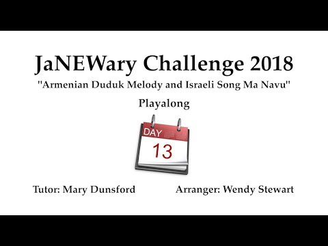 JaNEWary Challenge Day 13 - Playalong and Support