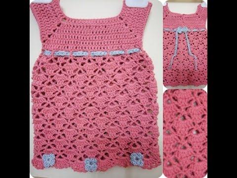 0484fcc27  #كروشية فستان بعدة مقاسات مع شرح الصدر المربع Crochet With Mado - YouTube