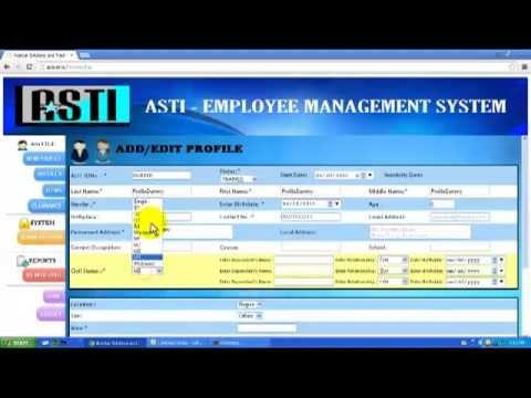 ASTI Employment Management System