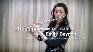 Россини, Увертюра Вильгельм Телль - видео урок первой флейты Concertgebouw Эмили Бейнон